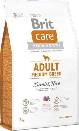 Brit Care Adult Medium Breed (Брит Кеар Эдалт Медиум Брид) - Корм для собак средних пород 3 кг