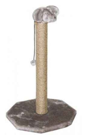 Чип - Когтеточка столбик с мышью (столбик ковролин, 38*38 см, высота 59 см)