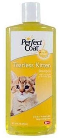 8in1 Perfect Coat - Шампунь для котят без слез с ароматом детской присыпки 295 мл