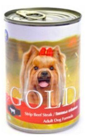 Nero Gold Super Premium (Неро Голд Супер Премиум) - Консервы для собак Говяжьи отбивные 0,41 кг