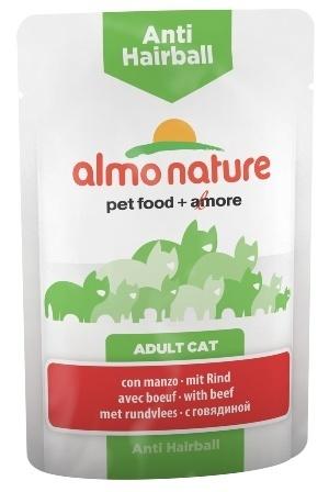 Almo Nature Functional - Паучи с говядиной для вывода шерсти у кошек 70 гр