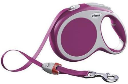 Flexi Vario S tape 5m - Рулетка-ремень Флекси Варио для собак до 15 кг 5 м (цвет розовый)
