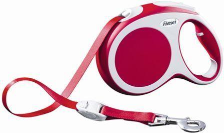 Flexi Vario S tape 5m - Рулетка-ремень Флекси Варио для собак до 15 кг 5 м (цвет красный)