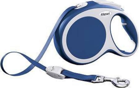 Flexi Vario M tape 5m - Рулетка-ремень Флекси Варио для собак до 25 кг 5 м (цвет голубой)
