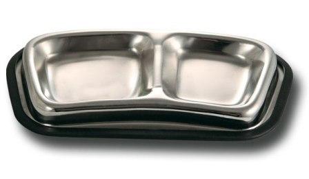 Triol (Триол) - Миска металлическая на резинке двойная