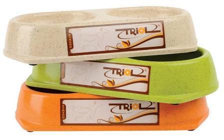 Triol (Триол) - Миска для животных двойная бамбук 2*180 мл