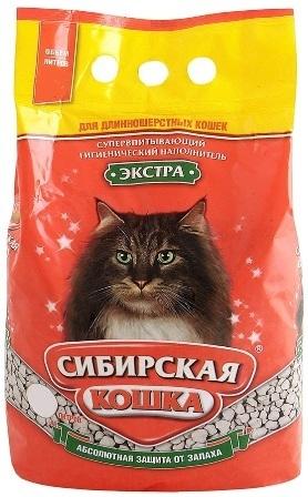 Сибирская Кошка - Наполнитель для кошек впитывающий Экстра 7 л (для длинношерстных)