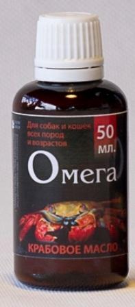 Мультитоник Крабовое масло - Витаминная добавка мультивитаминная для животных 100 мл