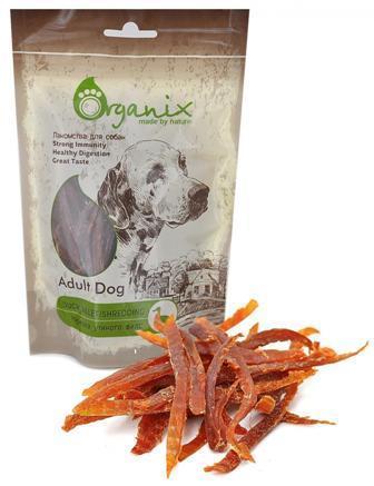 Organix (Россия) - Лакомство для собак Нарезка утиного филе (100% мясо) 100 гр