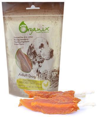 Organix (Россия) - Лакомство для собак Куриное филе на палочке (100% мясо) 100 гр