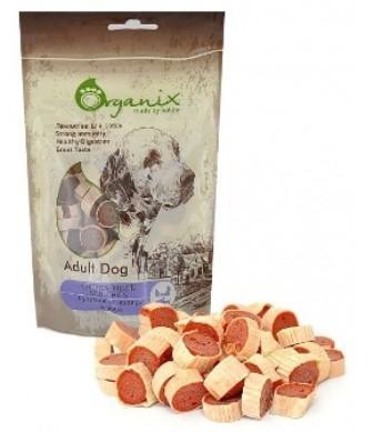 Organix (Россия) - Лакомство для собак Рулетики из куры и рыбы (100% мясо) 100 гр